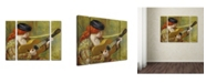 """Trademark Global Pierre Auguste Renoir 'Young Woman with a Guitar' Multi Panel Art Set Small - 24"""" x 32"""""""