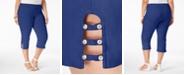 JM Collection Petite Plus Size Tummy-Control Capri Pants, Created for Macy's