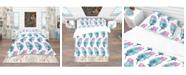 Design Art Designart 'Hand Drawn Feathers Isolated On Background' Southwestern Duvet Cover Set - Twin