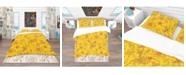 Design Art Designart 'Colorful Botanic Texture' Bohemian and Eclectic Duvet Cover Set - King
