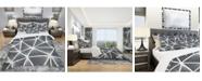 Design Art Designart 'Black and White Geometric Decorative Pattern' Modern Duvet Cover Set - King