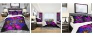 Design Art Designart 'Ideal Fractal Flower Digital Art In Purple' Modern and Contemporary Duvet Cover Set - King