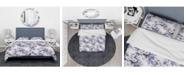 Design Art Designart 'Flowery Purple In White Background' Traditional Duvet Cover Set - King