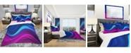 Design Art Designart 'Synchronicity' Modern and Contemporary Duvet Cover Set - King