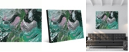"Creative Gallery Vulcano Beta Abstract Portrait Metal Wall Art Print - 20"" x 24"""