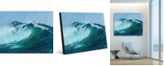 "Creative Gallery torrent Misty Wave Portrait Metal Wall Art Print - 24"" x 36"""