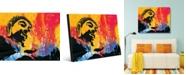 "Creative Gallery Color Splash Buddha Abstract Portrait Metal Wall Art Print - 24"" x 36"""