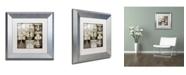 "Trademark Global Color Bakery 'Danse Paree' Matted Framed Art - 11"" x 11"""