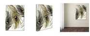 """Trademark Global Color Bakery 'Feather Fashion I' Canvas Art - 24"""" x 32"""""""