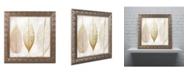 """Trademark Global Color Bakery 'Fallen Gold II' Ornate Framed Art - 11"""" x 11"""""""