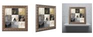 "Trademark Global Color Bakery 'Fallen Gold III' Ornate Framed Art - 11"" x 11"""