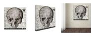 "Trademark Global Color Bakery 'Halloween Skull' Canvas Art - 18"" x 18"""