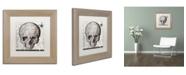 """Trademark Global Color Bakery 'Halloween Skull' Matted Framed Art - 11"""" x 11"""""""