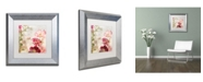"Trademark Global Color Bakery 'Always Paris I' Matted Framed Art - 11"" x 11"""