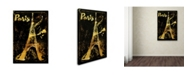 "Trademark Global Color Bakery 'Gold Eiffel' Canvas Art - 30"" x 47"""