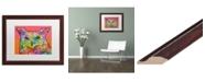 "Trademark Global Dean Russo 'Red Owl' Matted Framed Art - 16"" x 20"""
