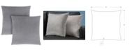 "Monarch Specialties 18"" x 18"" Diamond Velvet Pillow, Set Of 2"