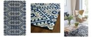 "Kaleen Global Inspirations GLB01-17 Blue 3'6"" x 5'6"" Area Rug"
