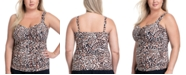 Profile by Gottex Plus Size Wild Thing Printed Tankini Top
