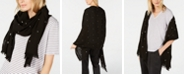 Eileen Fisher Fringed Dotted Scarf