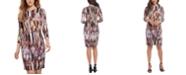 Karen Kane 3/4-Sleeve Printed Sheath Dress