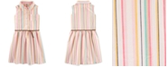 Carter's Little & Big Girls Striped Shirtdress