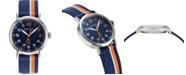 Nautica N83 Men's NAPWLS912 Wakeland Blue/Orange Stripe Fabric Strap Watch