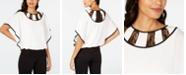Thalia Sodi Lace-Inset Blouse, Created for Macy's
