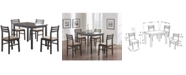 Monarch Specialties 5 Piece Polyester Blend Dining Set