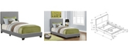 Monarch Specialties Twin Leather Look Bed