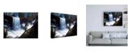 "Trademark Global R W Hedge Vernal Falls Waterfall Canvas Art - 15.5"" x 21"""