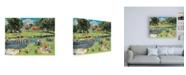 "Trademark Global Trevor Mitchell at the Picnic Spot Canvas Art - 19.5"" x 26"""