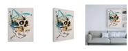 "Trademark Global Taka Sudo Skull Bold Color 2 Canvas Art - 19.5"" x 26"""