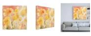 """Trademark Global Sheila Golden Coral Sky, Yellow Garden 2 Canvas Art - 19.5"""" x 26"""""""