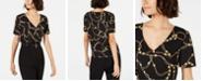 LEYDEN V-Neck Chain-Print Top