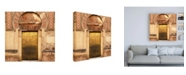 "Trademark Global Philippe Hugonnard Made in Spain 3 Golden Mezquita Door Canvas Art - 15.5"" x 21"""