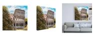 "Trademark Global Philippe Hugonnard Dolce Vita Rome 3 Beautiful Colosseum VIII Canvas Art - 15.5"" x 21"""