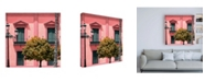 """Trademark Global Philippe Hugonnard Made in Spain 3 Spanish Pink Architecture Canvas Art - 19.5"""" x 26"""""""