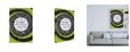 "Trademark Global Philippe Hugonnard Dolce Vita Rome the Vatican Spiral Staircase Lime Green II Canvas Art - 19.5"" x 26"""