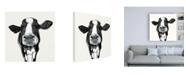 "Trademark Global Victoria Borges Cow Contour III Canvas Art - 36.5"" x 48"""