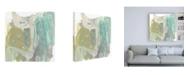 "Trademark Global Jennifer Goldberger Seafoam Marks II Canvas Art - 36.5"" x 48"""