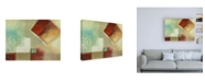 """Trademark Global Pablo Esteban Watered Down Squares with Jewel Canvas Art - 15.5"""" x 21"""""""