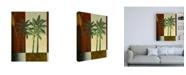 "Trademark Global Pablo Esteban Palm Trees on Balcony Canvas Art - 27"" x 33.5"""