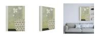 "Trademark Global Pablo Esteban White Flowers in Studded Bowl Canvas Art - 19.5"" x 26"""