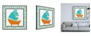 "Trademark Global June Erica Vess Rub a Dub Dino III Childrens Art Canvas Art - 15.5"" x 21"""