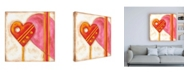 "Trademark Global Nancy Slocum Pop Hearts II Childrens Art Canvas Art - 15.5"" x 21"""