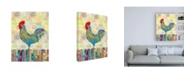 "Trademark Global Ingrid Blixt Rooster on a Fence II Childrens Art Canvas Art - 36.5"" x 48"""