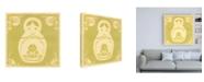"Trademark Global June Erica Vess Russian Doll in Green Canvas Art - 15.5"" x 21"""