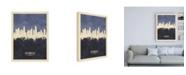 "Trademark Global Michael Tompsett Los Angeles California Skyline Navy Canvas Art - 36.5"" x 48"""