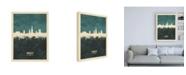 "Trademark Global Michael Tompsett Norwich England Skyline Teal Canvas Art - 19.5"" x 26"""